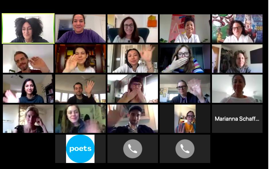 screenshot of Artist Relief Fund meeting