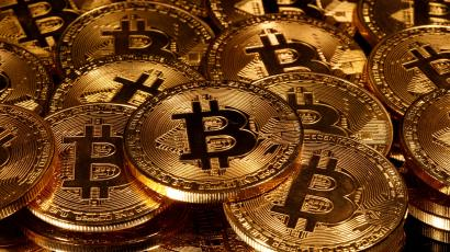 Representations of virtual currency Bitcoin are seen in this picture illustration