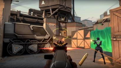 A screenshot of the latest multiplayer shooter by Riot Games.