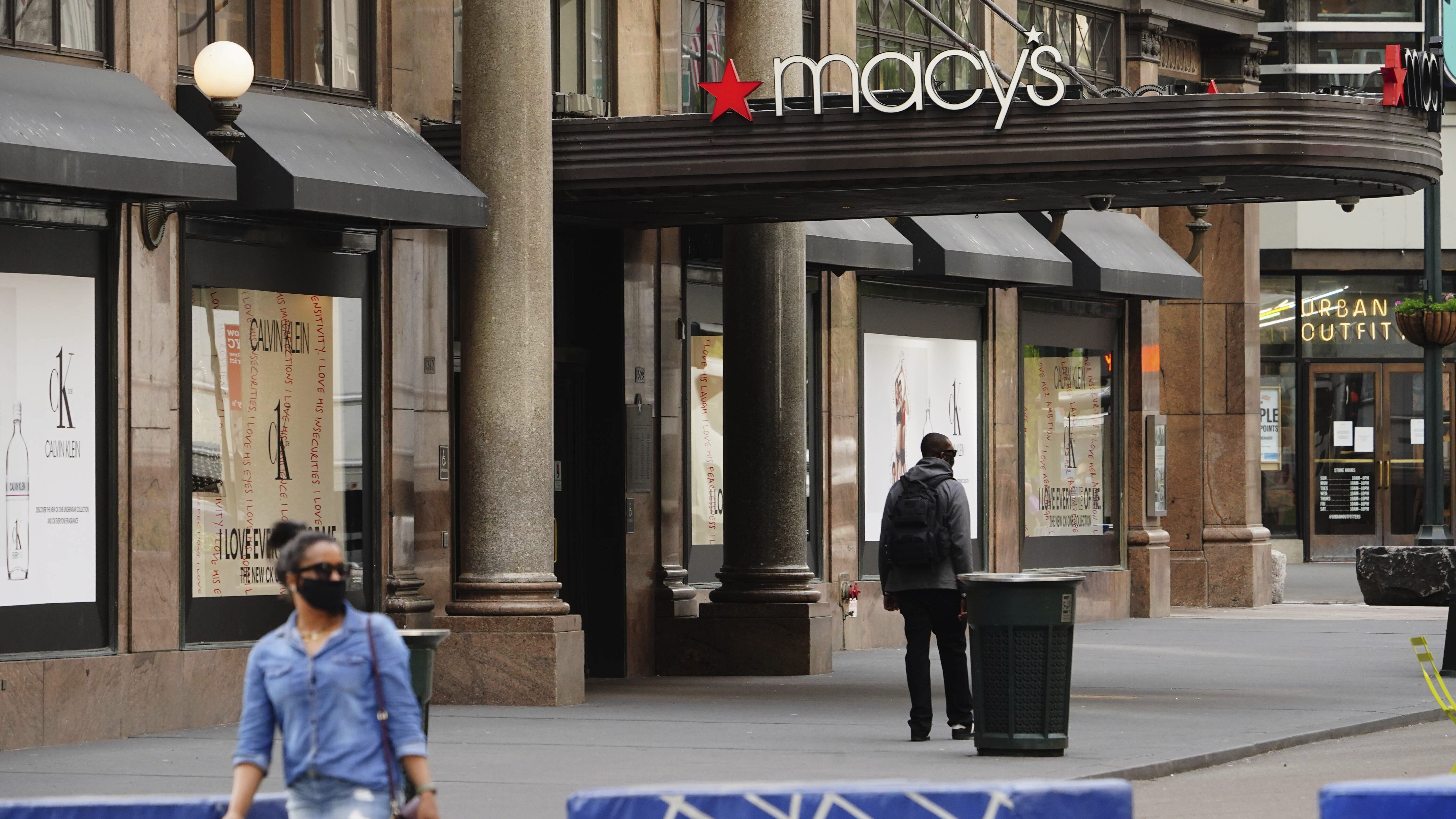 A view of Macy's Department Store during the coronavirus pandemic on May 18, 2020 in New York City