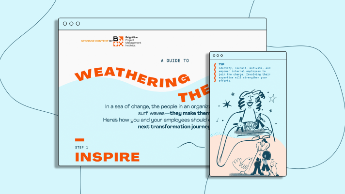 Preview of custom work for Brightline in light blues and orange, custom illos