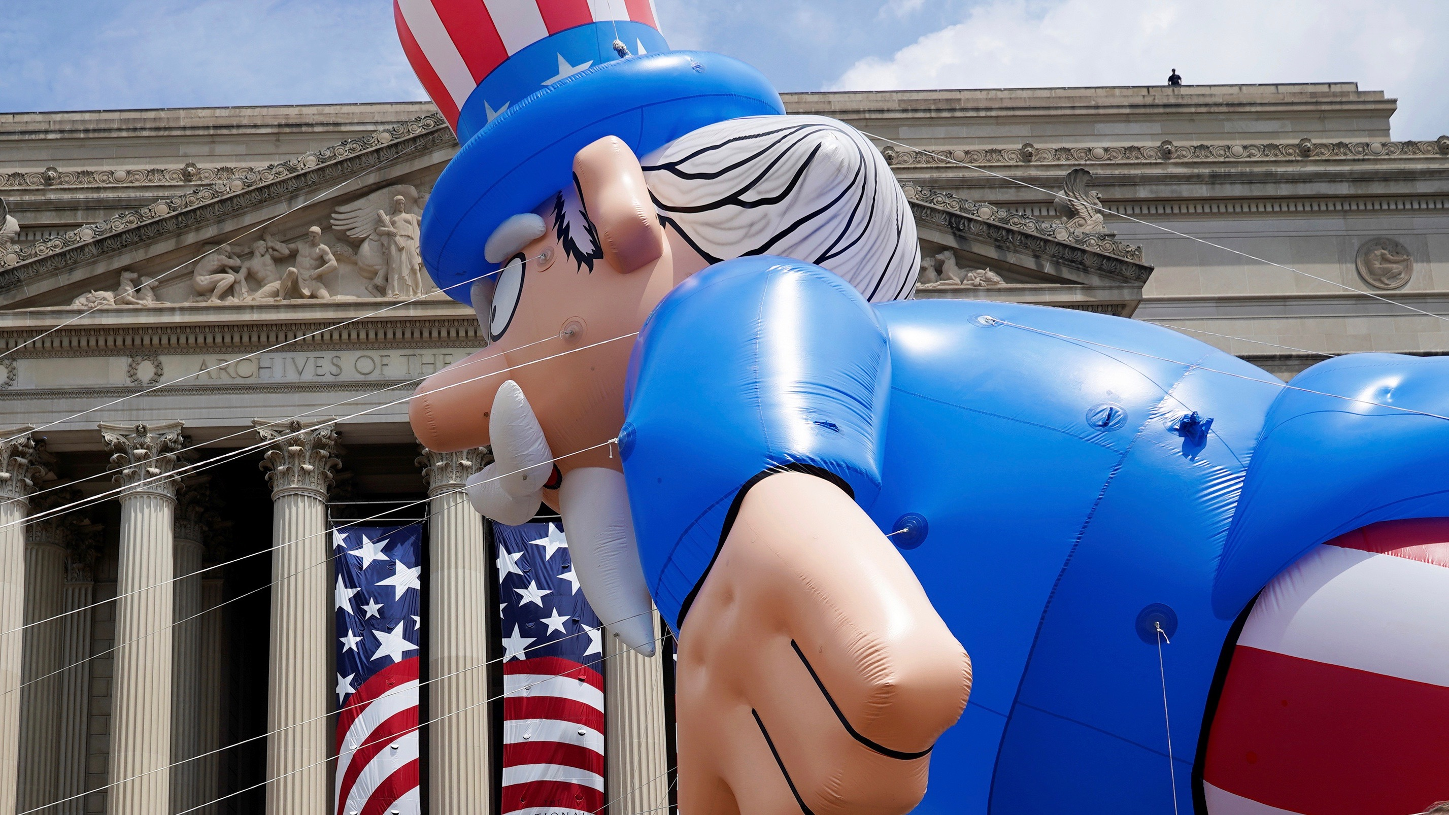 Uncle Sam Balloon on Independence Day.
