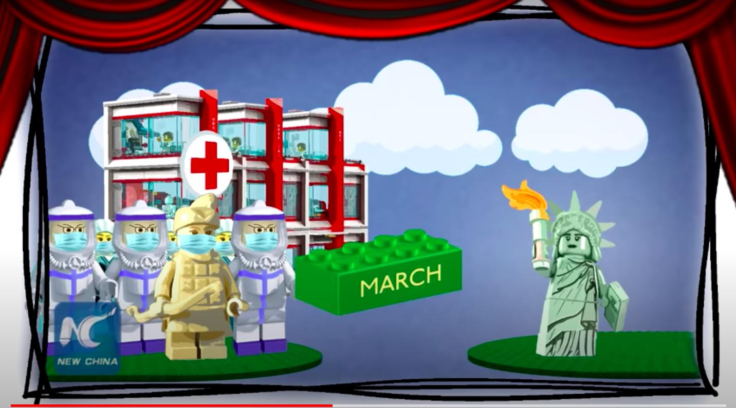 China released a video bashing the US coronavirus response
