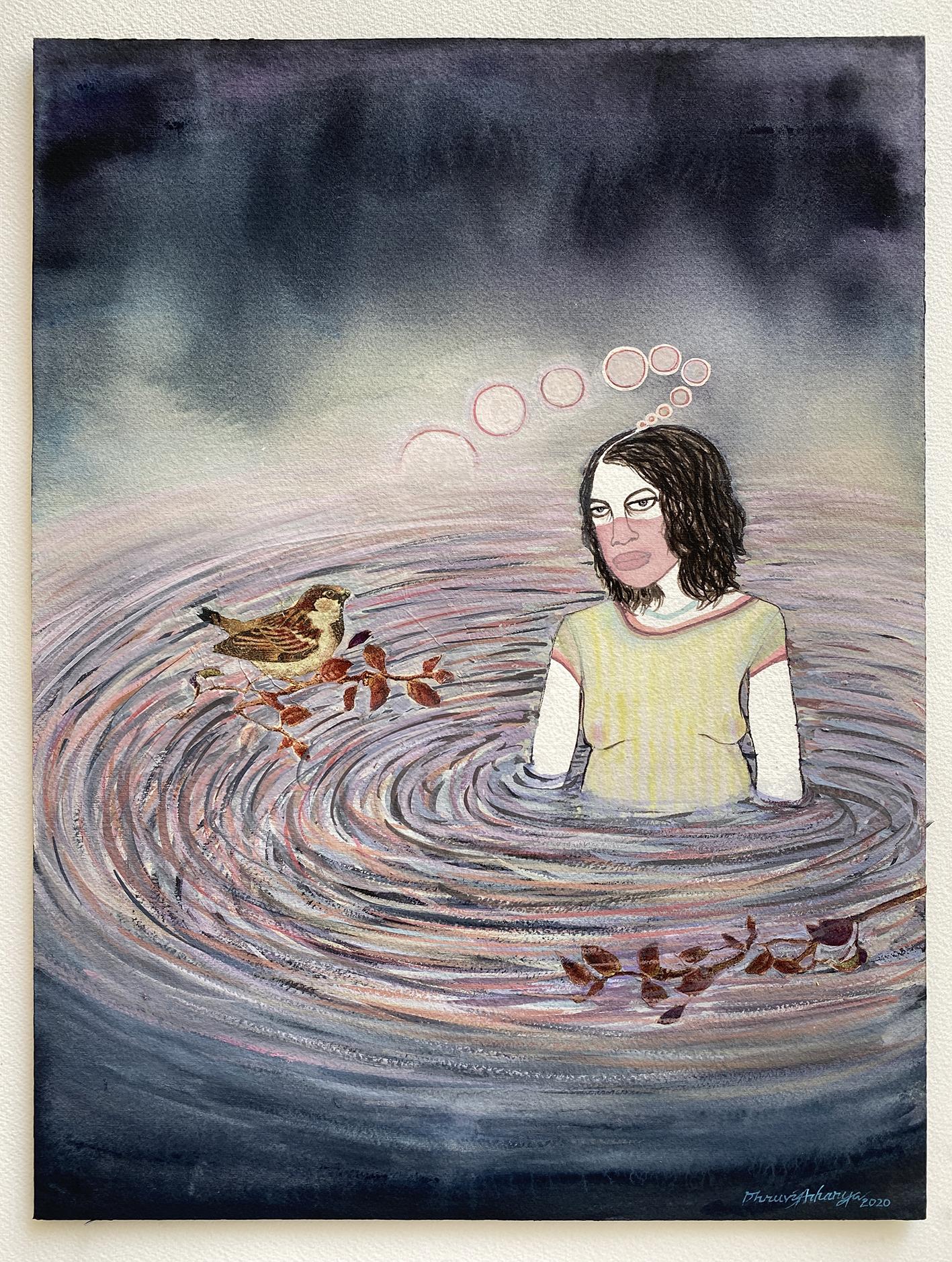 A painting by Dhruvi Acharya.