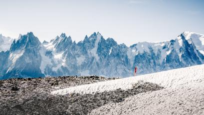 Ultrarunner Fernanda Maciel seen in Chamonix, France close to the Mont-Blanc right before the 2018 Ultra Trail Mont Blanc on August 27, 2018.