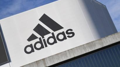 The Adidas logo is pictured