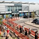 People queue to enter a Primark store as it is re-opening following the coronavirus disease (COVID-19) outbreak