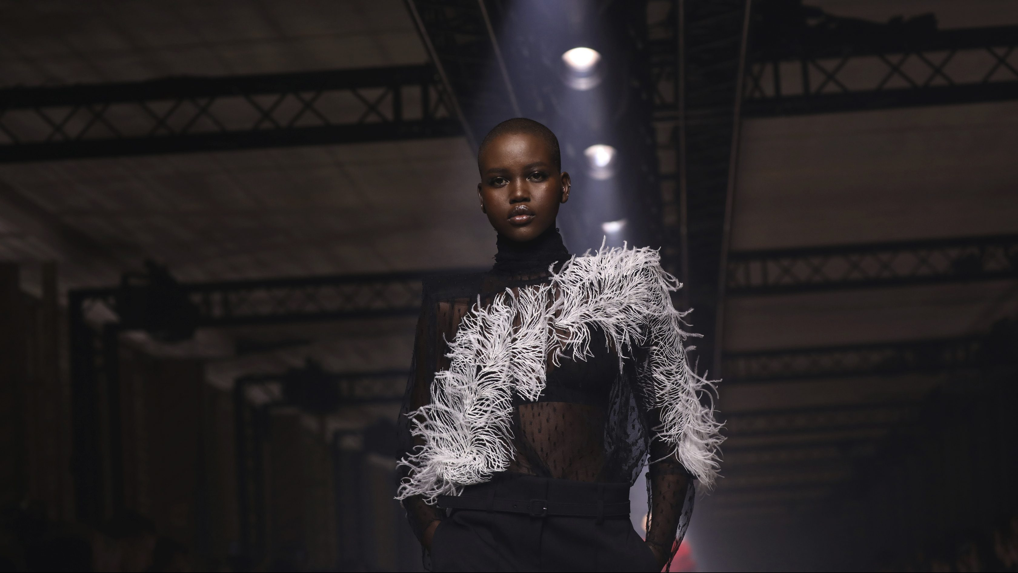 A model wears a creation for the Givenchy fashion collection during Women's fashion week Fall/Winter 2020/21 presented in Paris