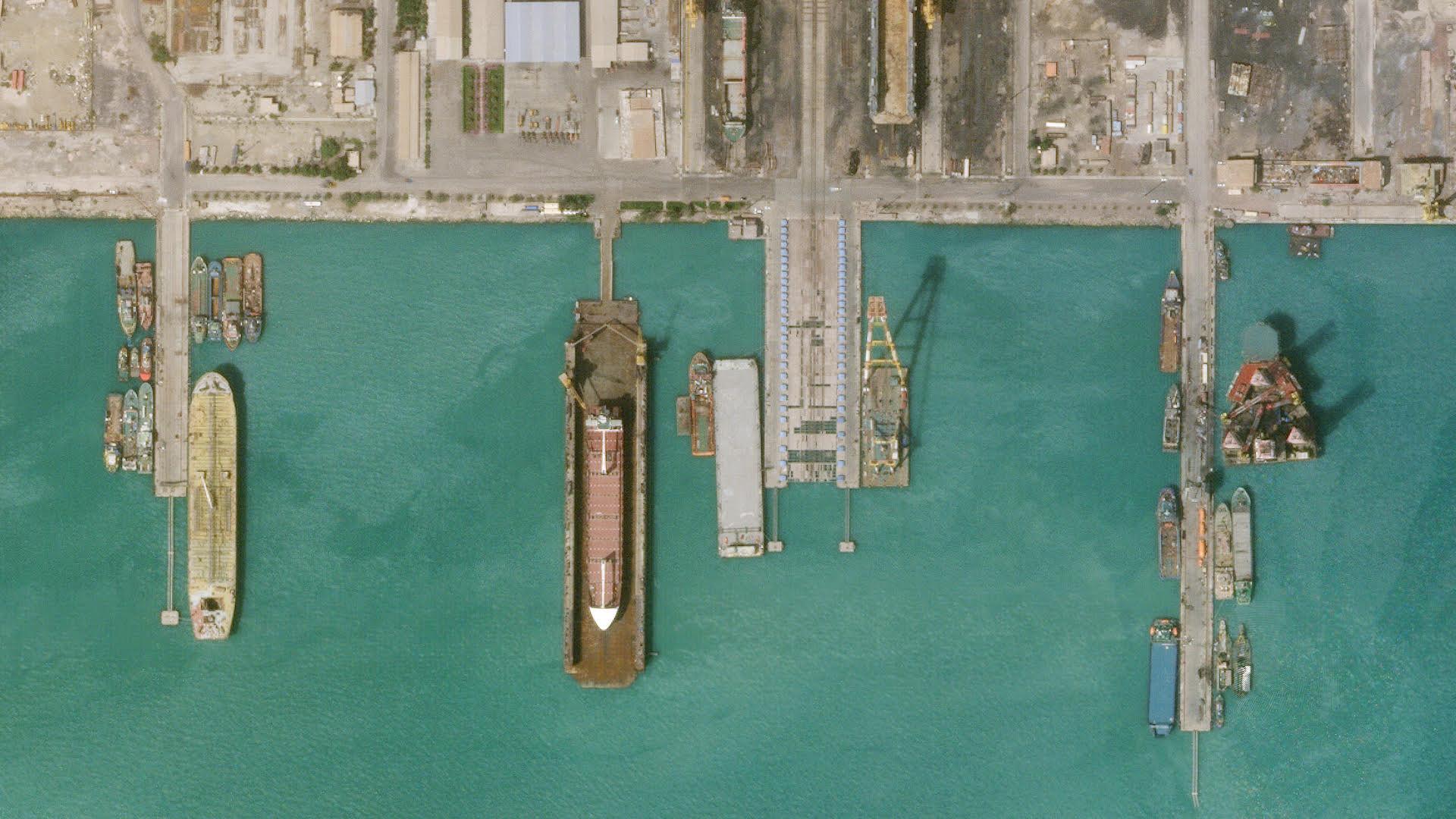 Planet's satellites captured this view of Iran near the Strait of Hormuz.