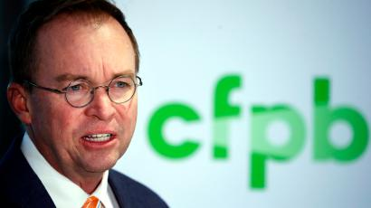 Mick Mulvaney, Trump's first appointment to lead the Consumer Financial Protection Bureau.
