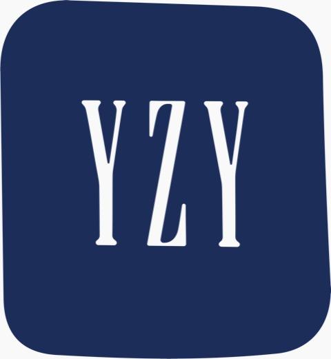O logotipo Yeezy Gap, que é as letras