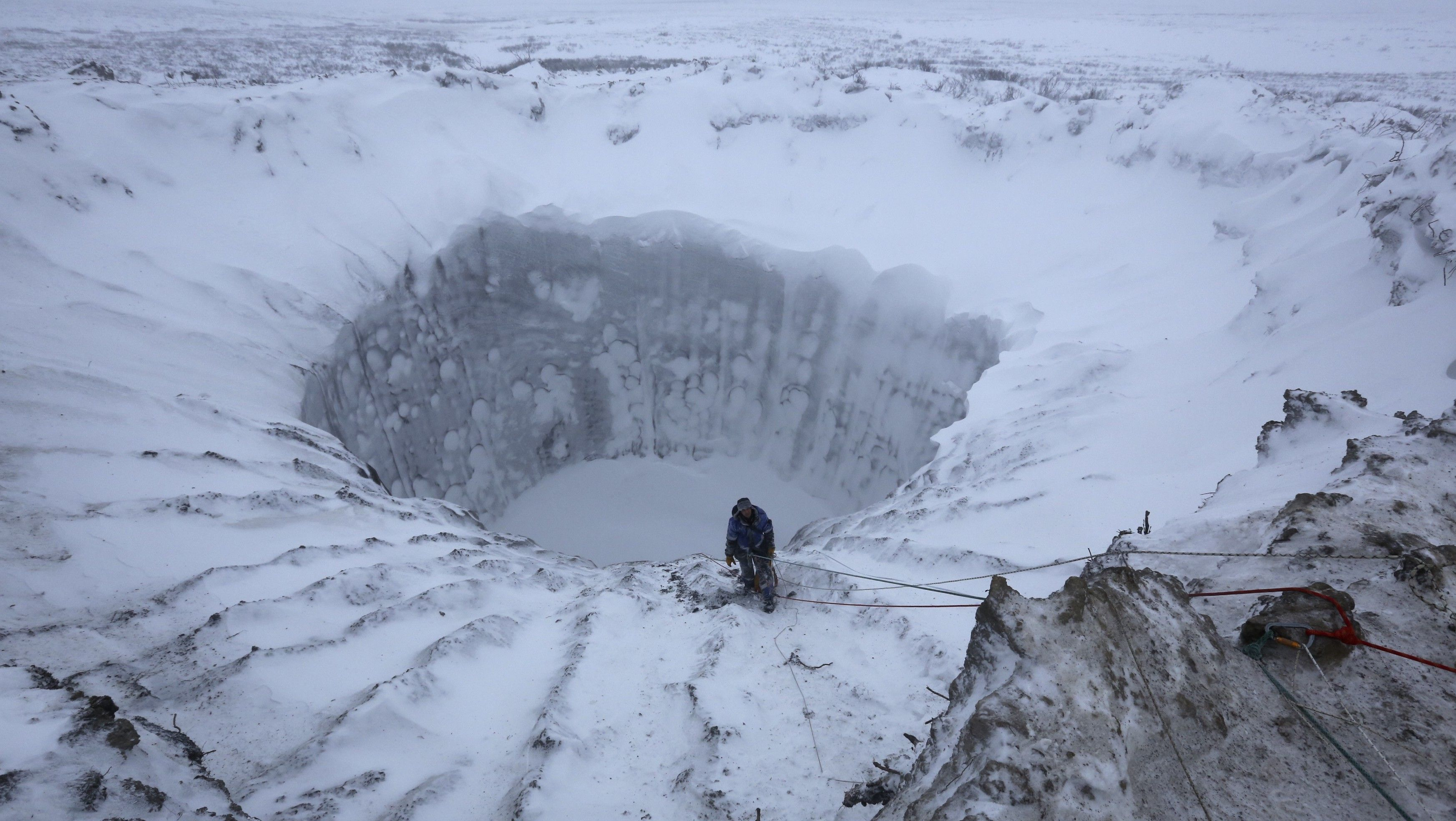 A crater in the Arctic