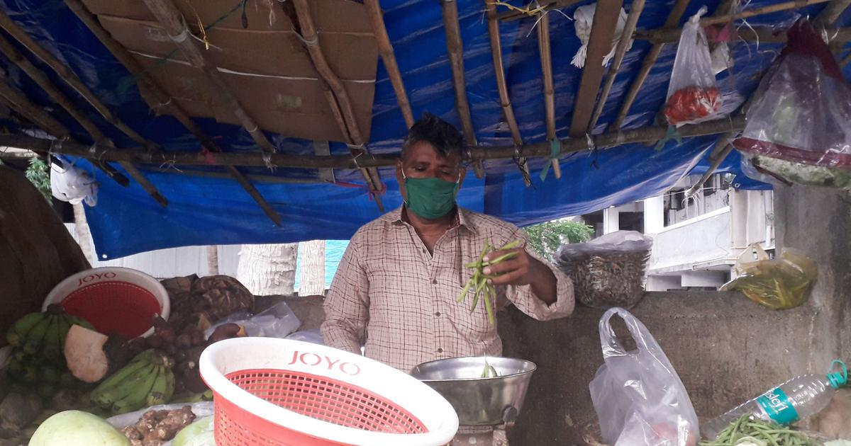 Shantaram Prajapati claims his business has reduced by half because of the migrant exodus.