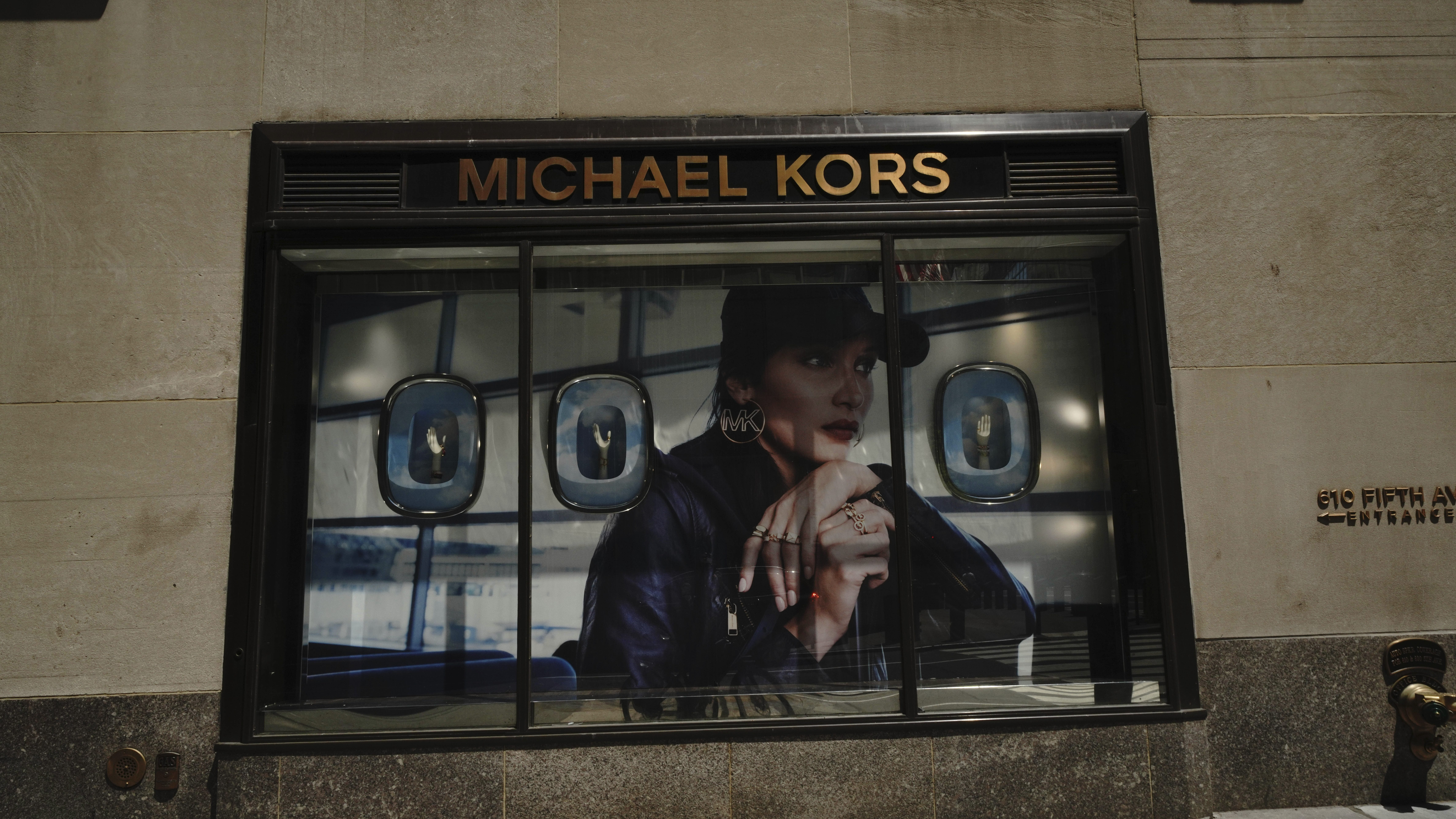 A view of Michael Kors boutique during the coronavirus pandemic