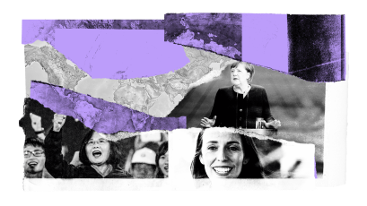 Images of female leaders around the world.