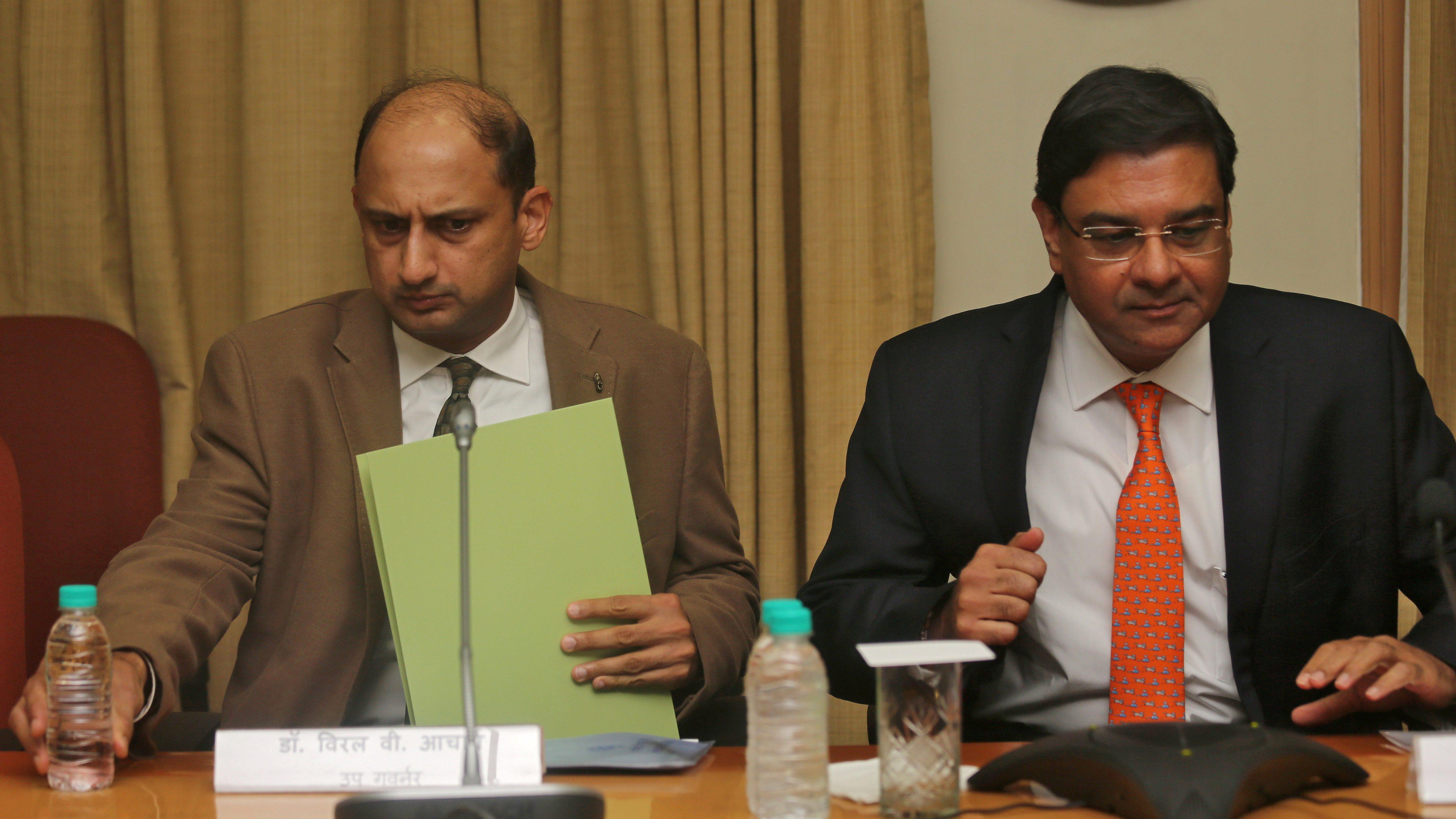 Viral Acharaya-Urjit Patel-RBI