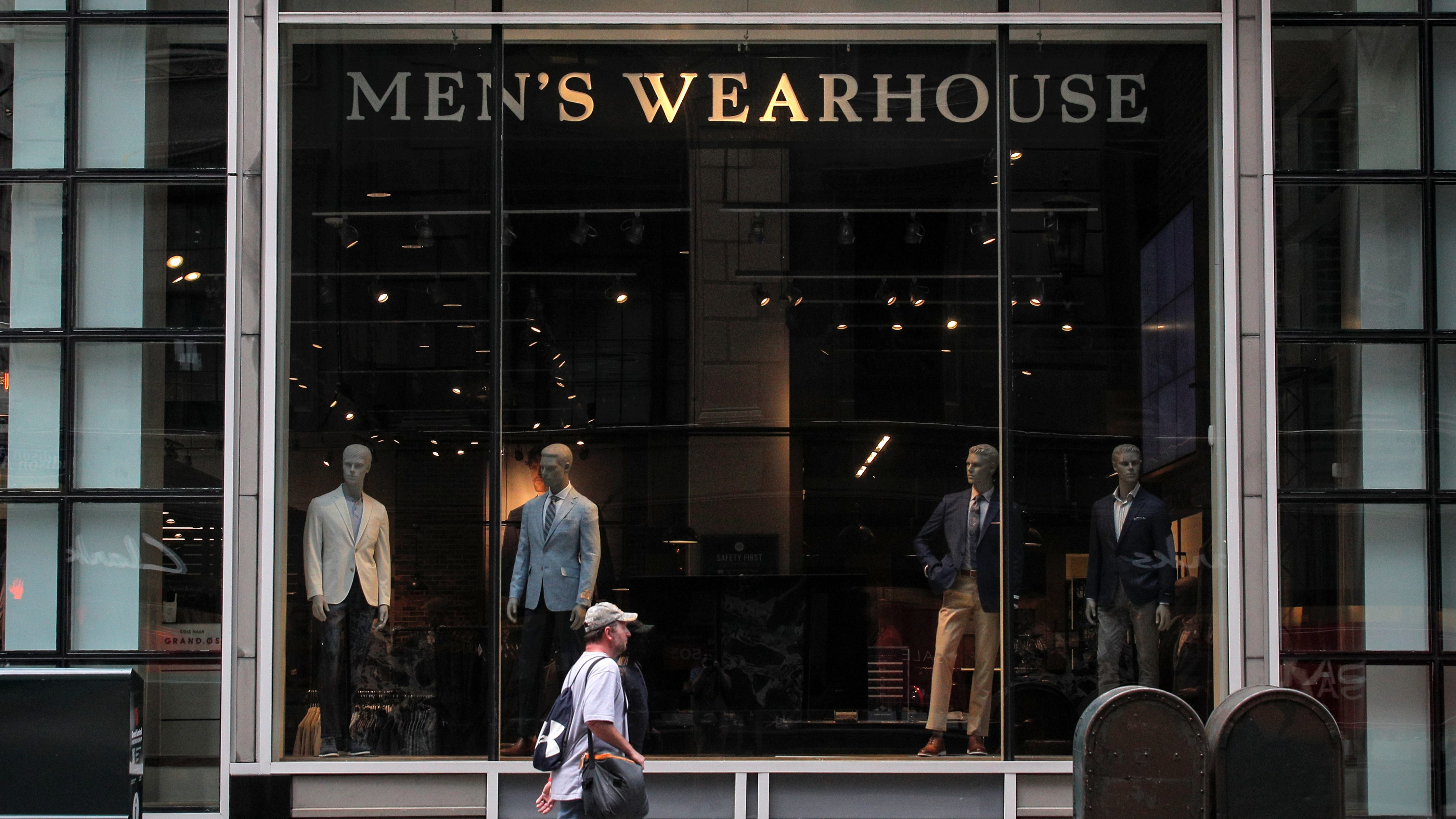 A Tailored Brands Men's Wearhouse store is seen in New York City, U.S., July 31, 2020.