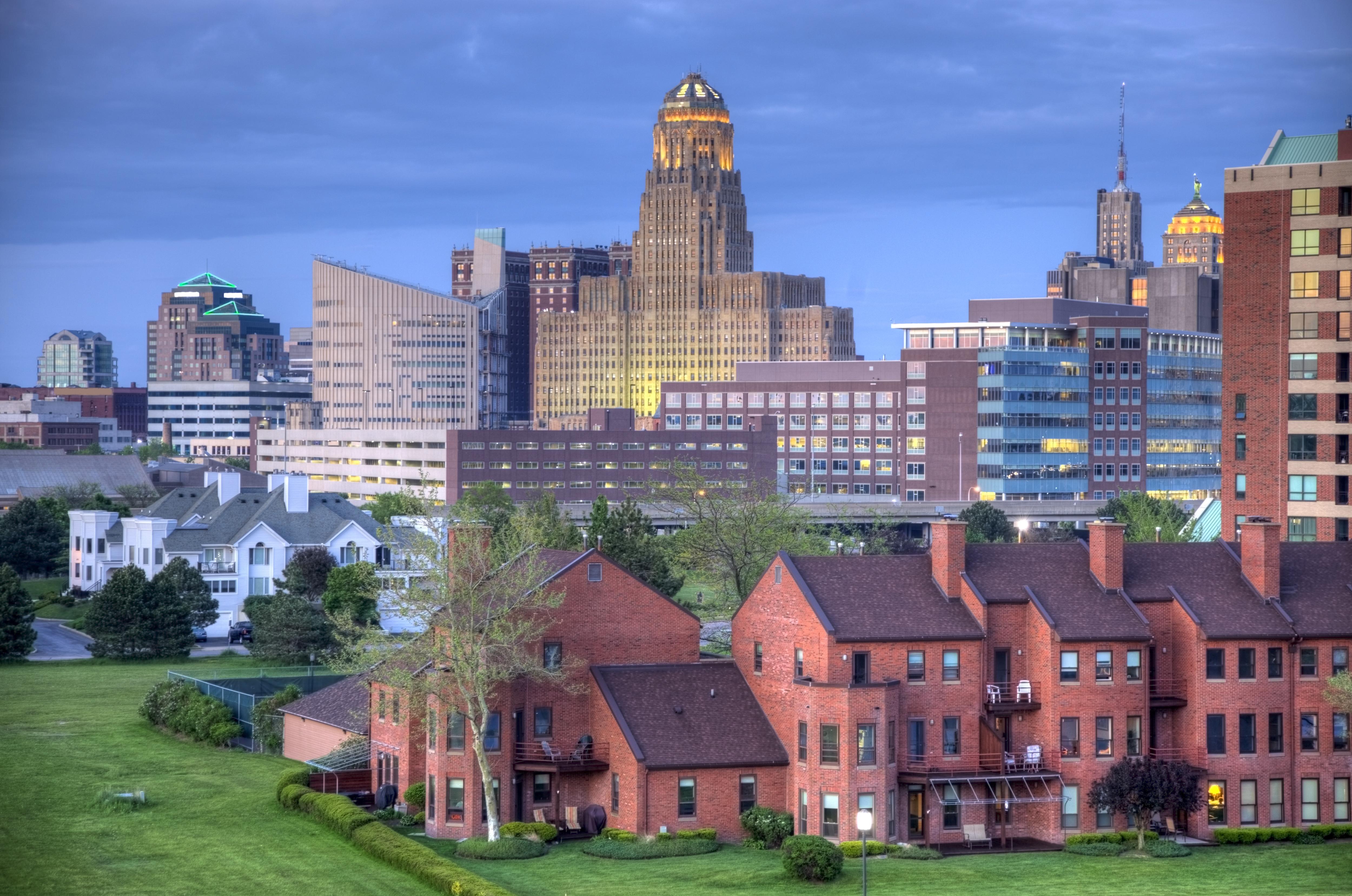 A cityscape of Buffalo New York.