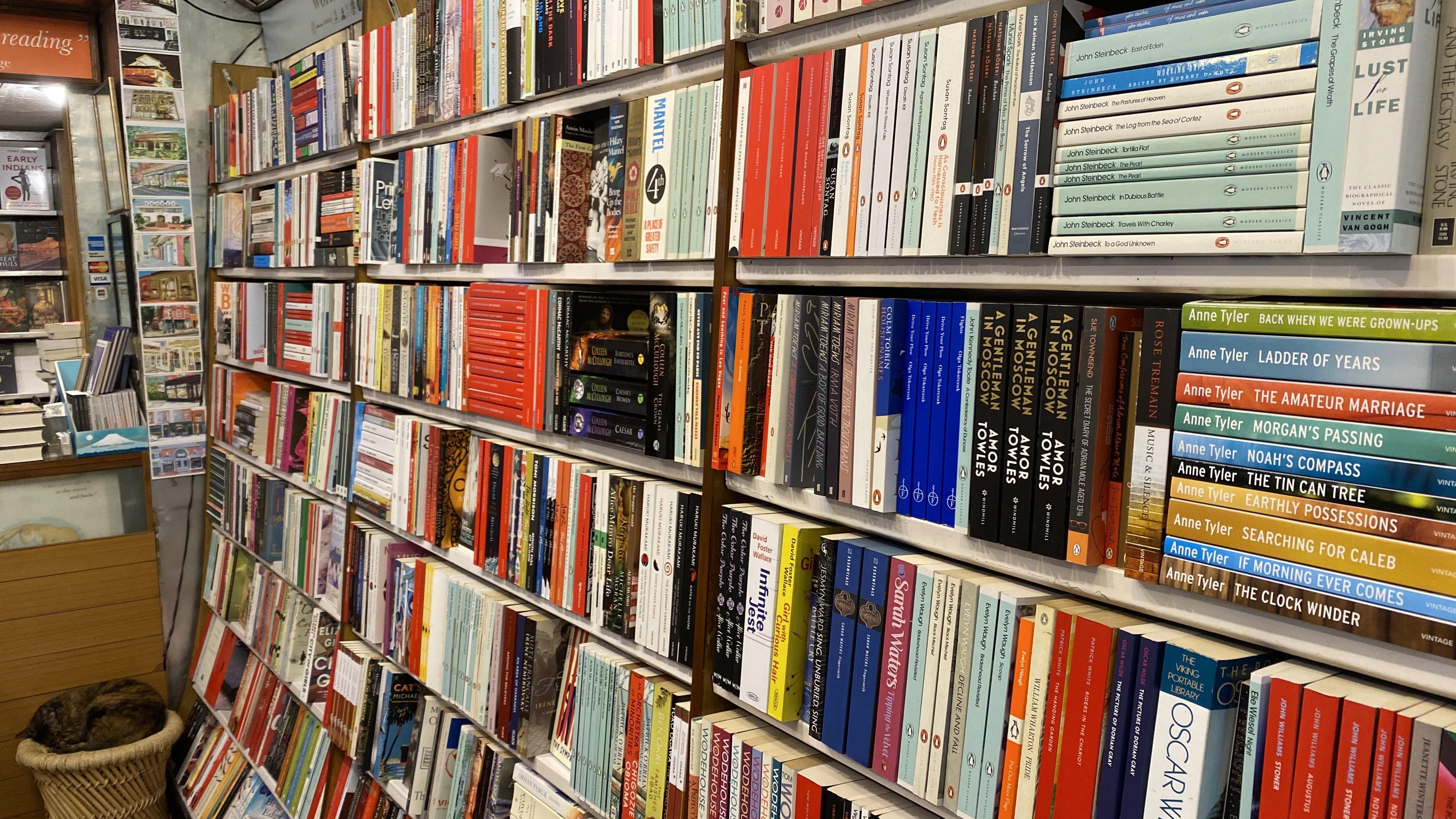 Inside The Bookshop, a quaint bookshop in the tony neighbourhood of Delhi's Jor Bagh.