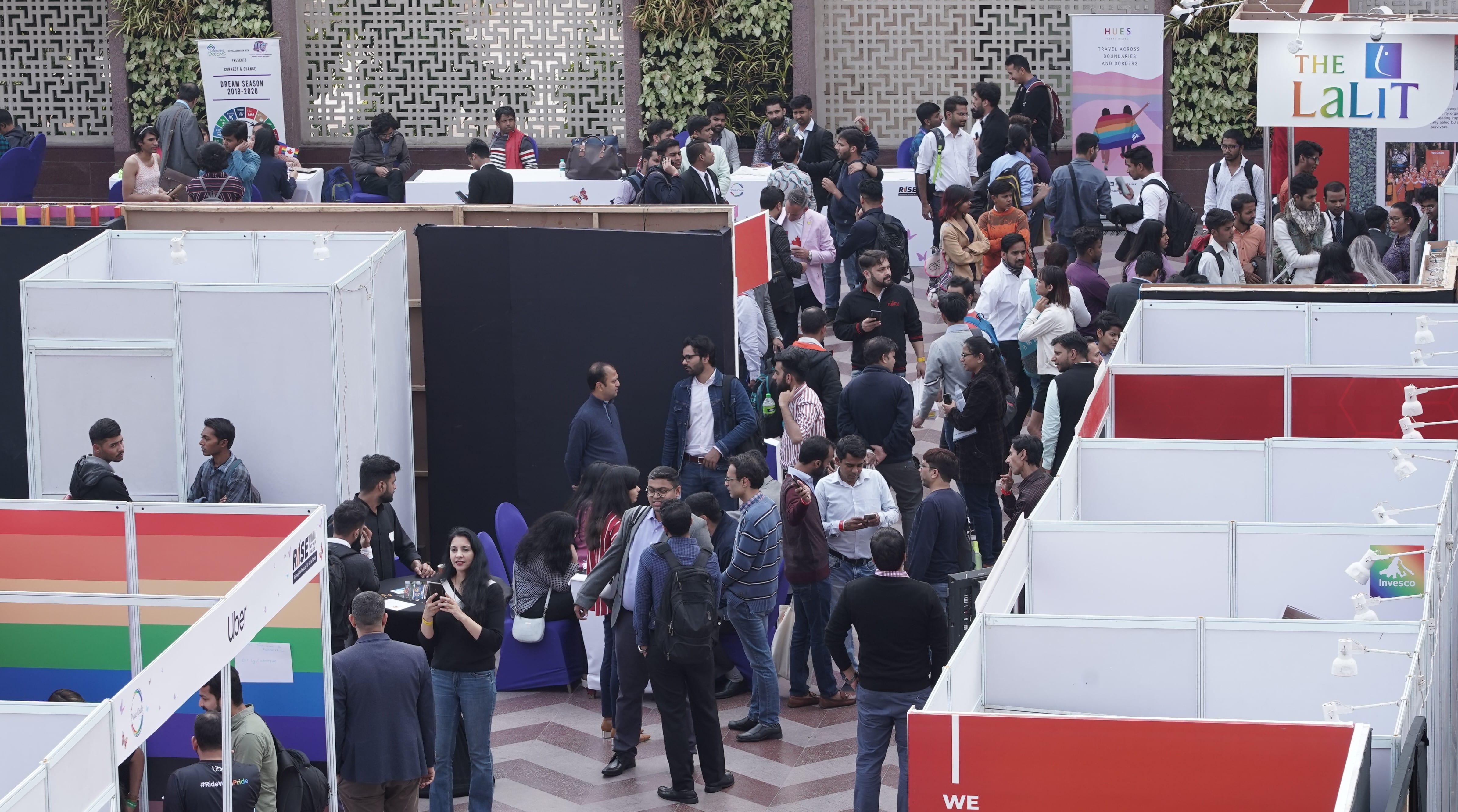 The RISE job fair in Delhi in February 2020.
