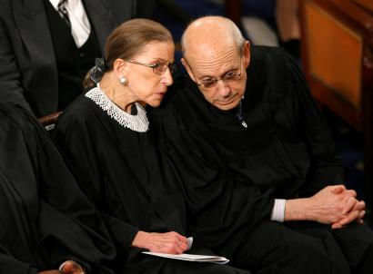 U.S. Supreme Court Justices Ruth Bader Ginsburg and Stephen Breyer.