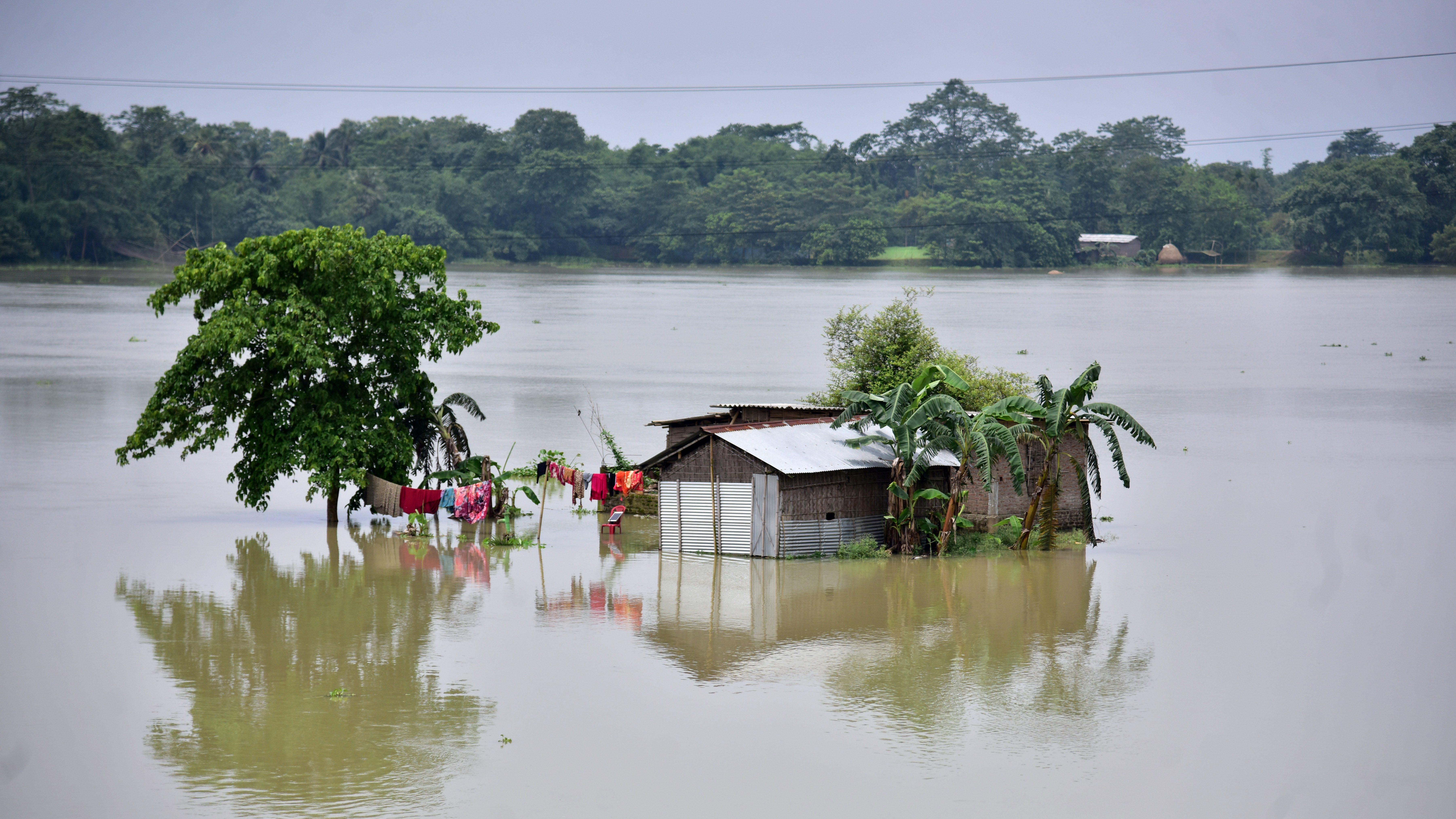 Climate change-Assam floods-India