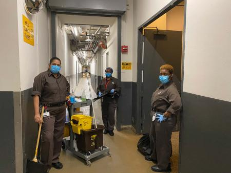 Picture of Met Museum's buildings department staff during the Covid-19 lockdown