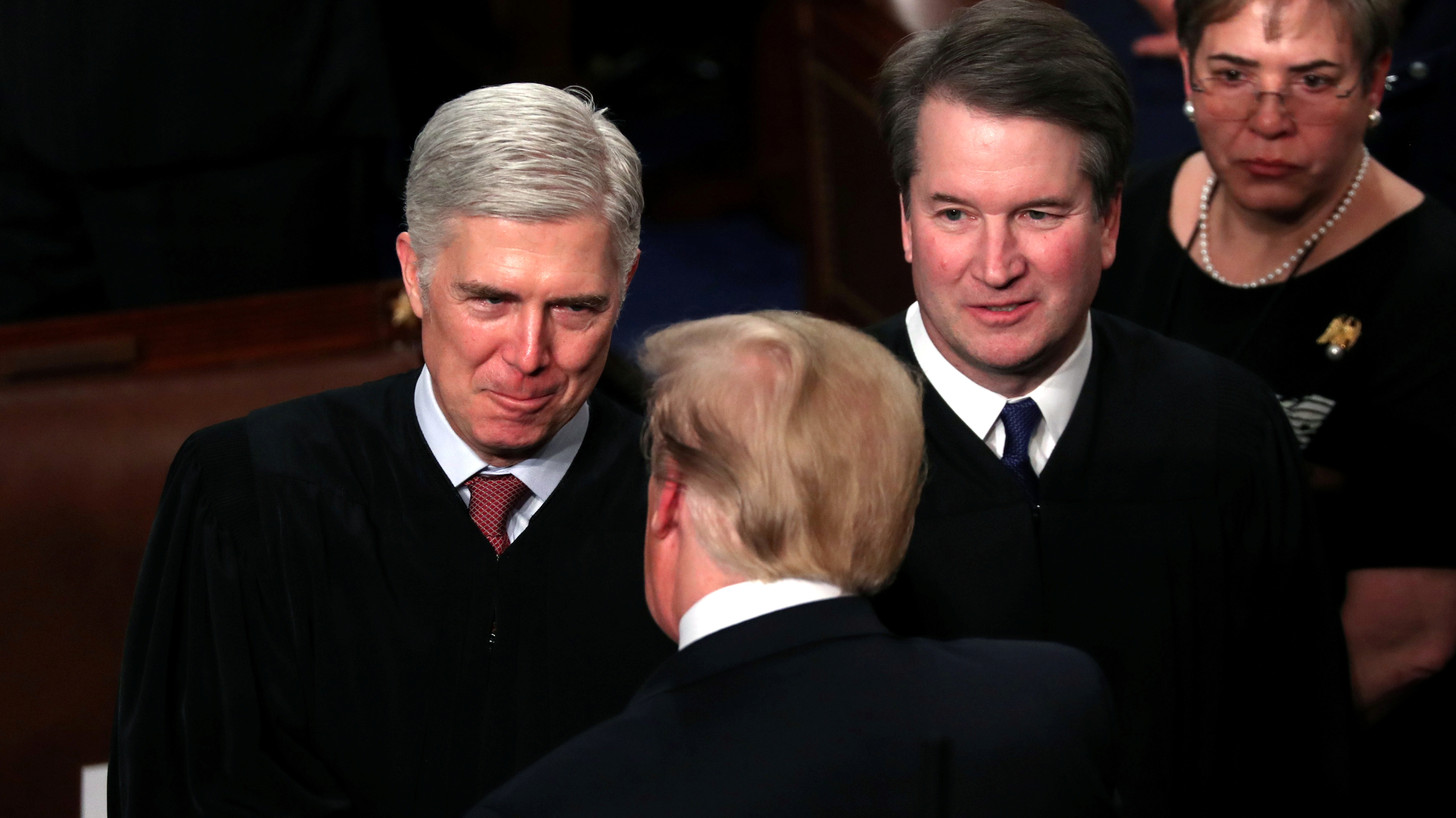 Trump and his previous two Supreme Court nominees.