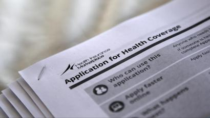 A copy of a health insurance application.