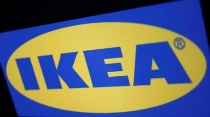 FILE PHOTO: The logo of the Swedish furniture giant IKEA in Mexico City, Mexico May 22, 2019. REUTERS/Edgard Garrido/File Photo
