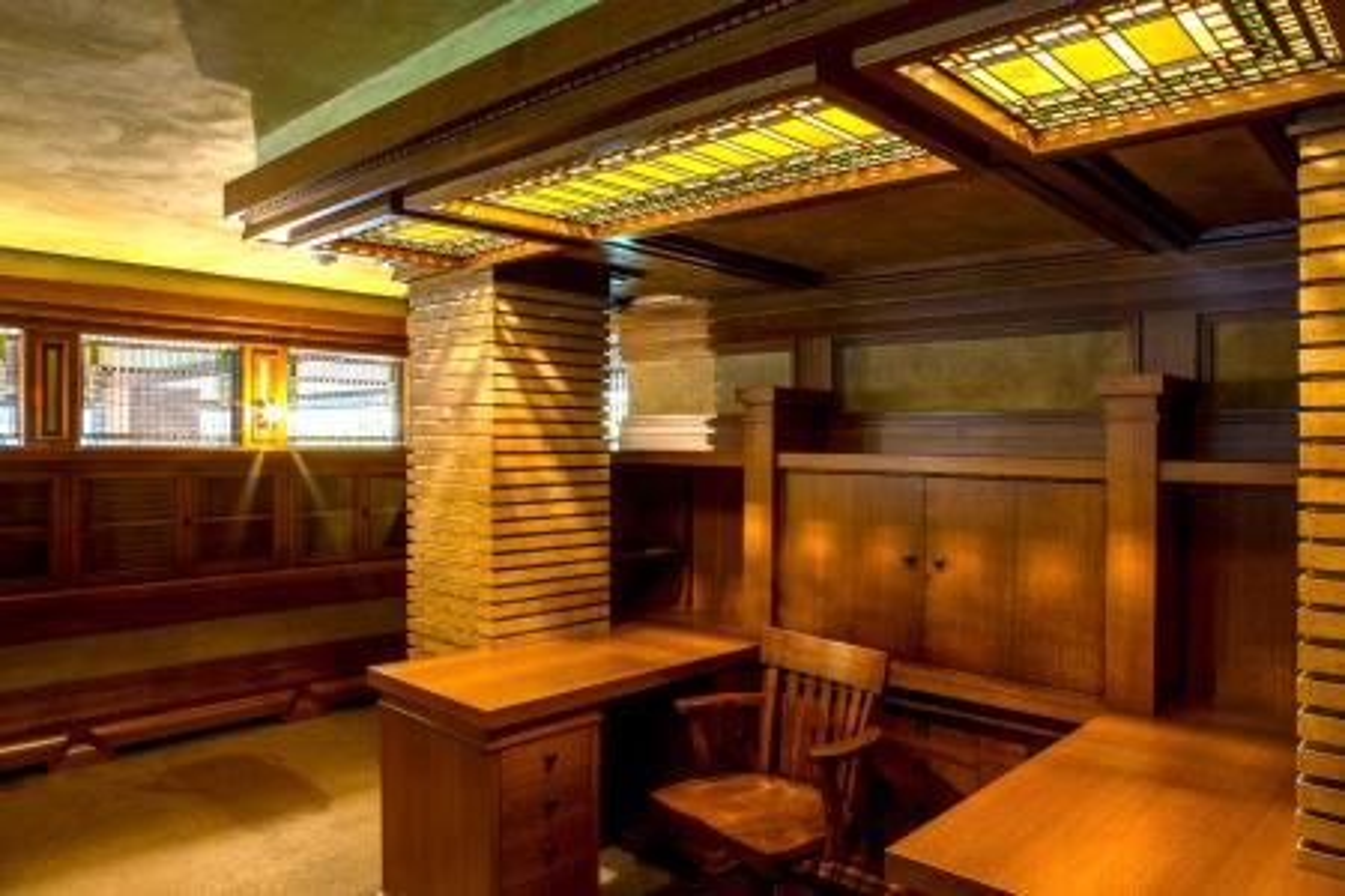 Darwin Martin's sanctum: the bursar's office.