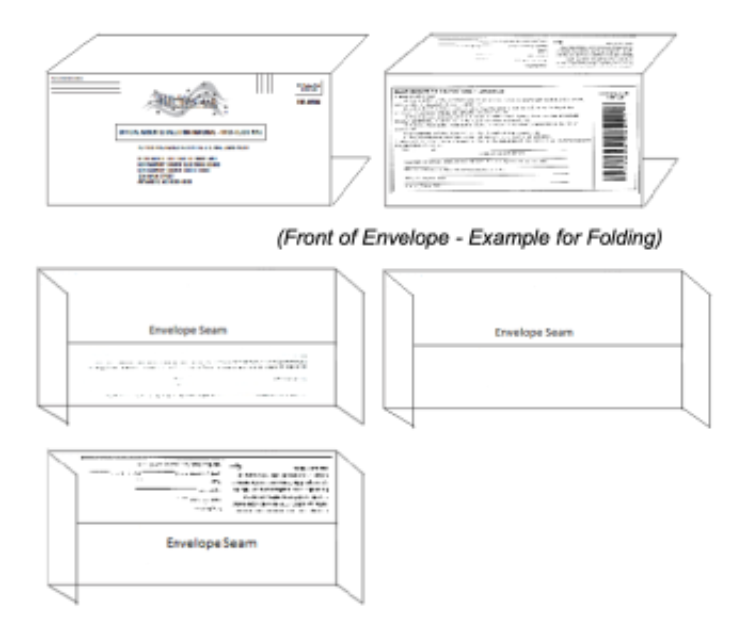 Folding instructions for NY State envelope