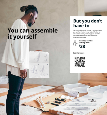 Corrected page on the IKEA catalog