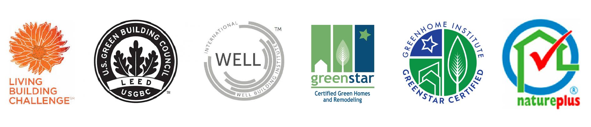 Common sustainable architecture credentials
