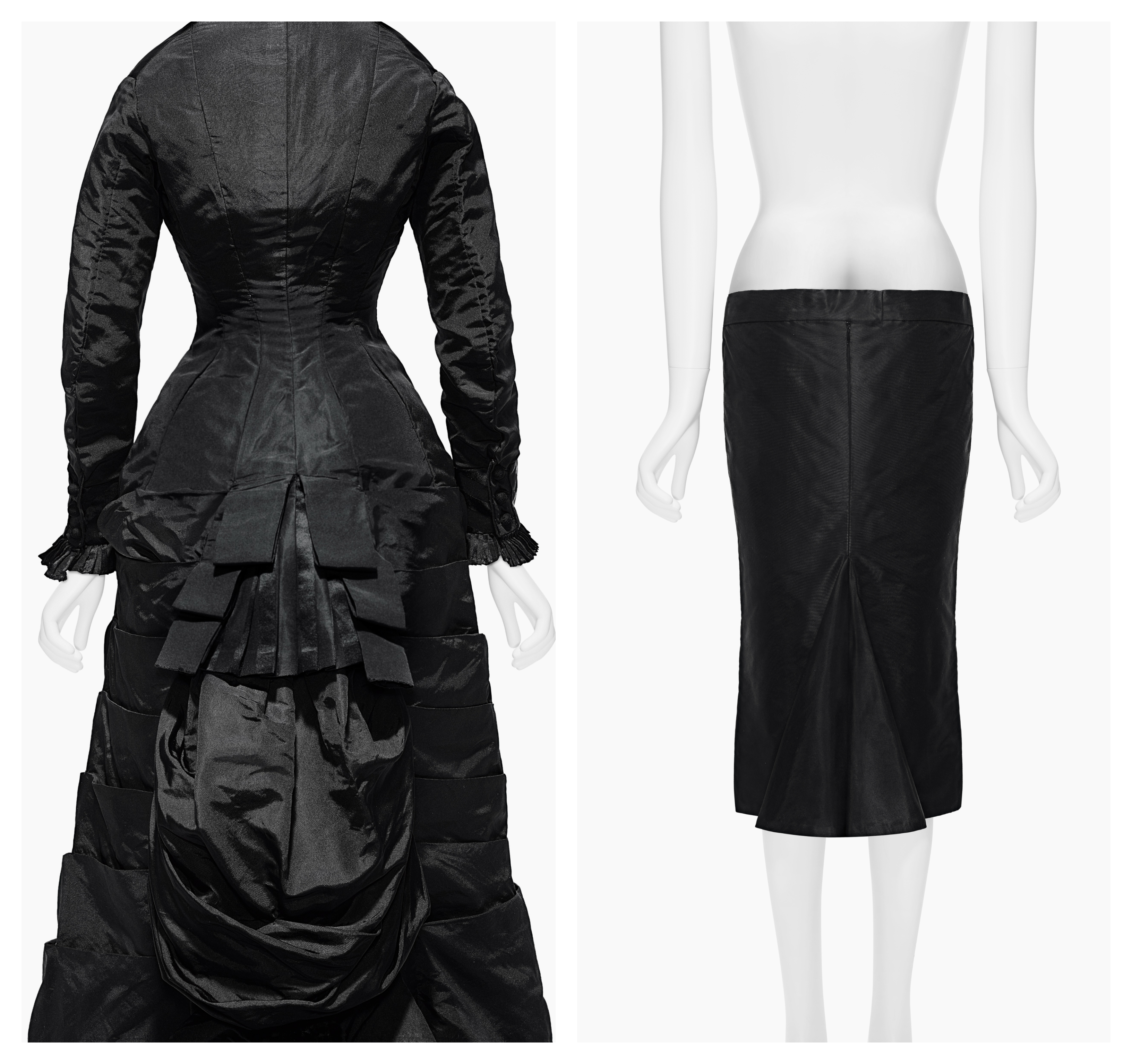 "An afternoon dress from 1877 with Alexander McQueen's ""Bumster"" Skirt."