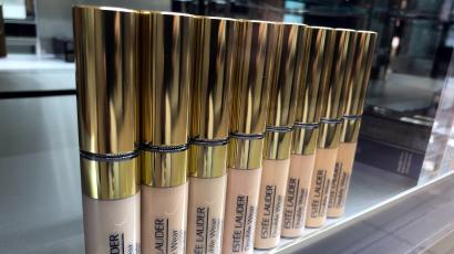 An Estee Lauder cosmetics counter is seen in Los Angeles, California.