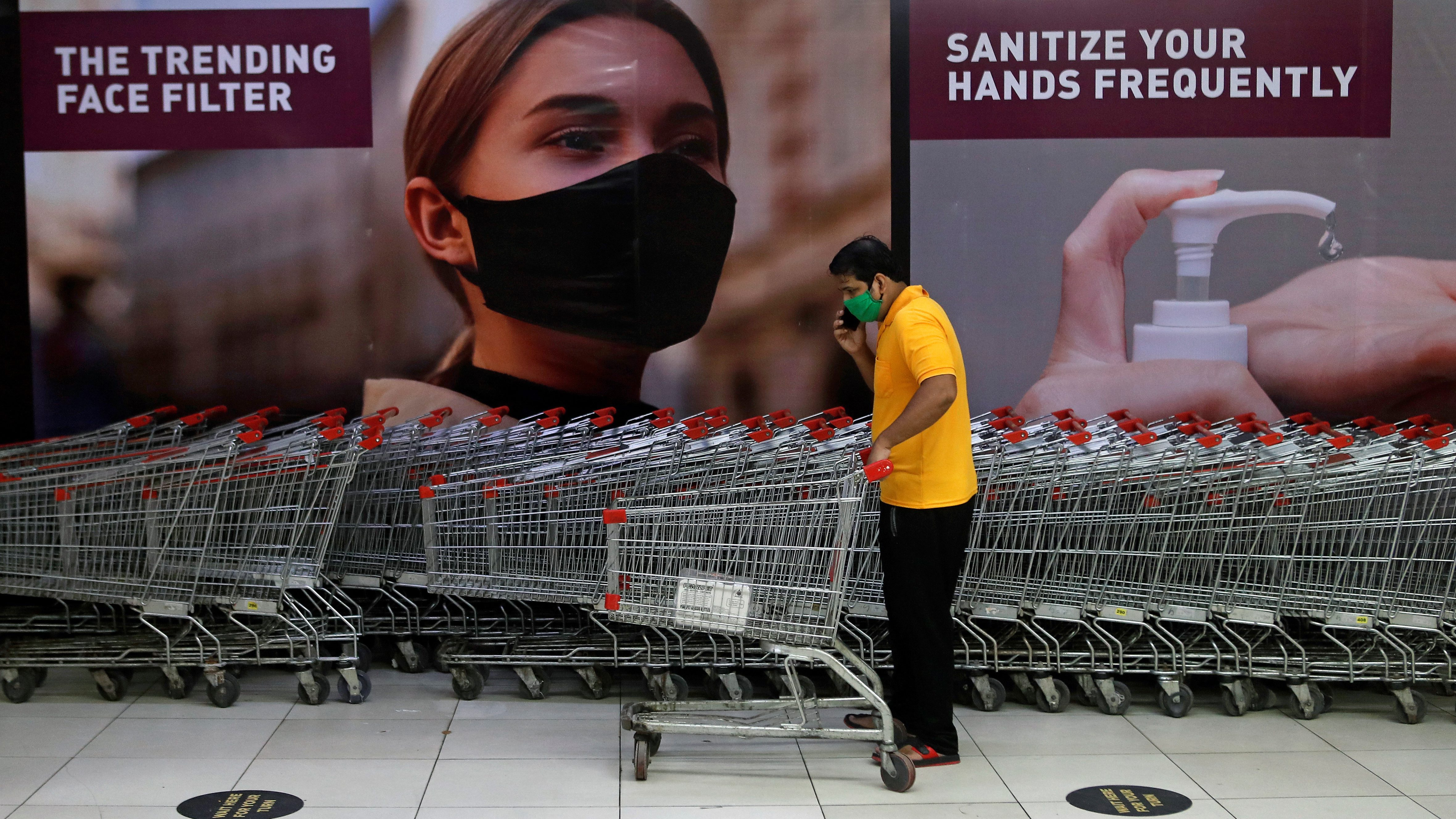 Indians shopping during Diwali 2020, but less than before
