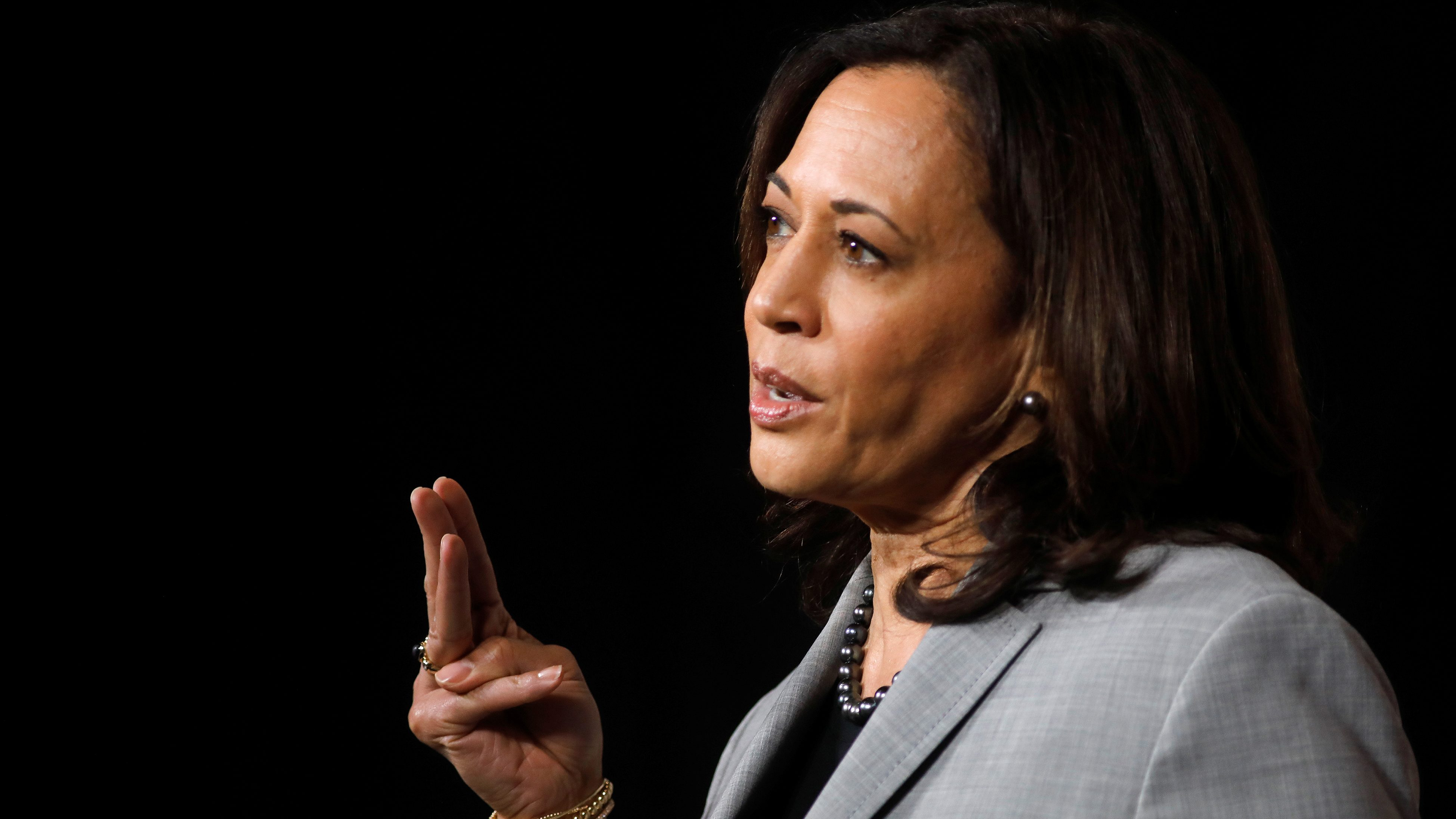 Democratic U.S. vice presidential nominee Senator Kamala Harris in Raleigh