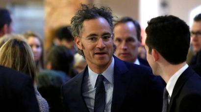 Palantir CEO Alex Karp attends a 2016 meeting with president-elect Donald Trump's technology team.