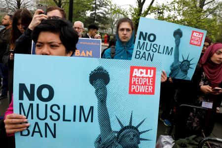 Protest of Donald Trumps Muslim ban