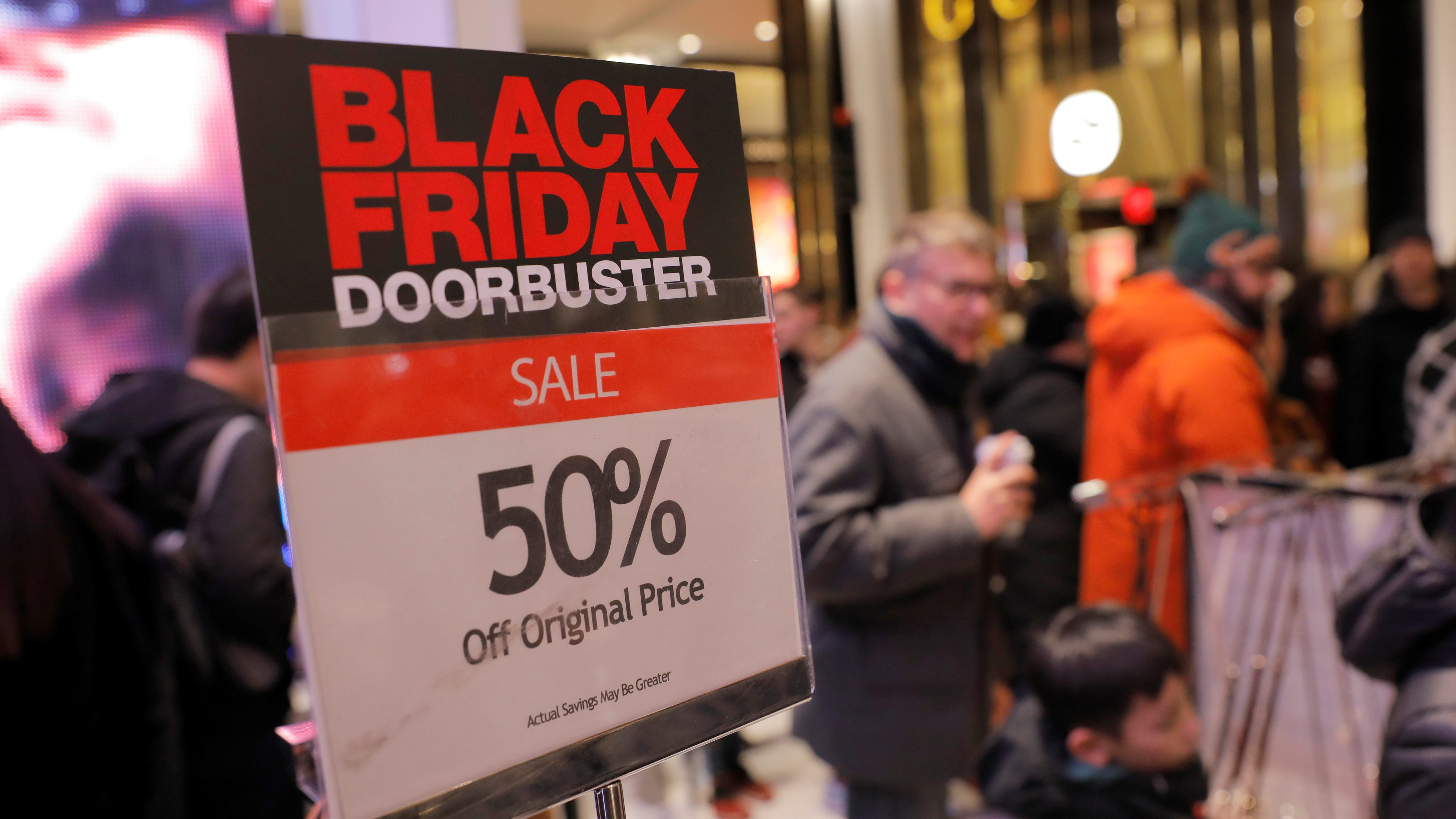 People shop at Macy's Herald Square during early opening for the Black Friday sales in Manhattan, New York City, U.S., November 28, 2019