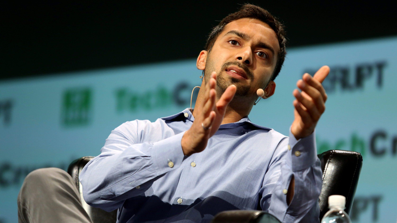 Apoorva Mehta da Instacart fala durante 2016 TechCrunch Disrupt.