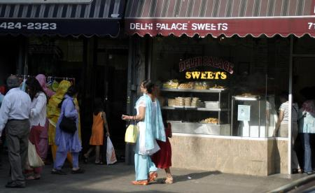A street in New York's Jackson Heights