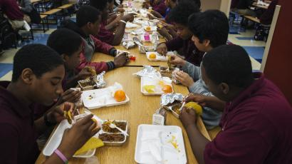 School lunch menus could have a smaller carbon footprint.