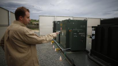Utility-scale battery in California.