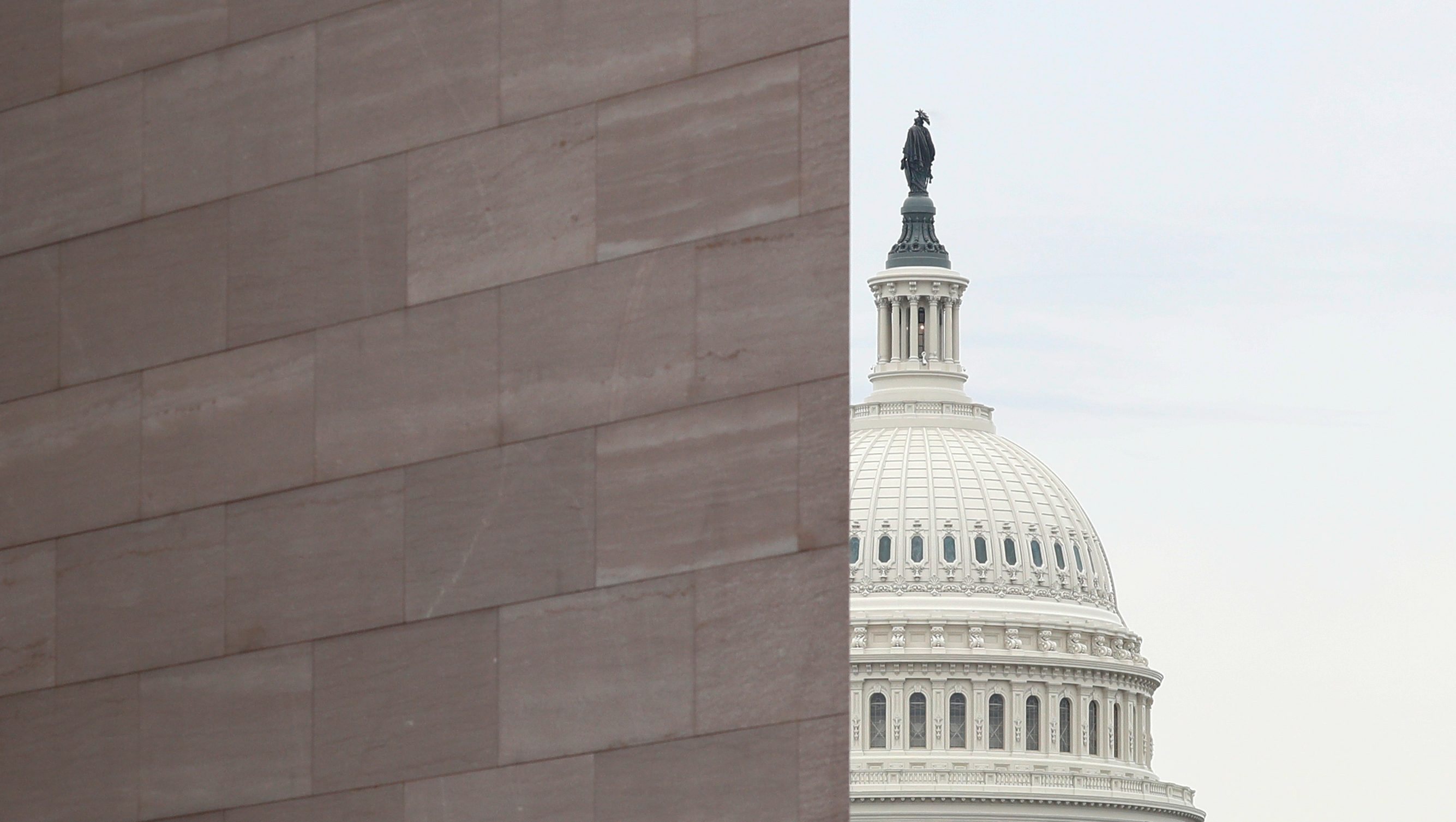The U.S. Capitol seen ahead of House of Represenatives' transfer of articles of impeachment against U.S. President Trump in Washington