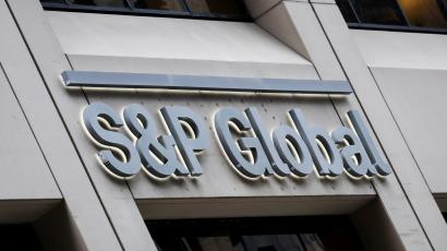 The S&P Global logo is displayed on its offices in the financial district in New York City, U.S., December 13, 2018.