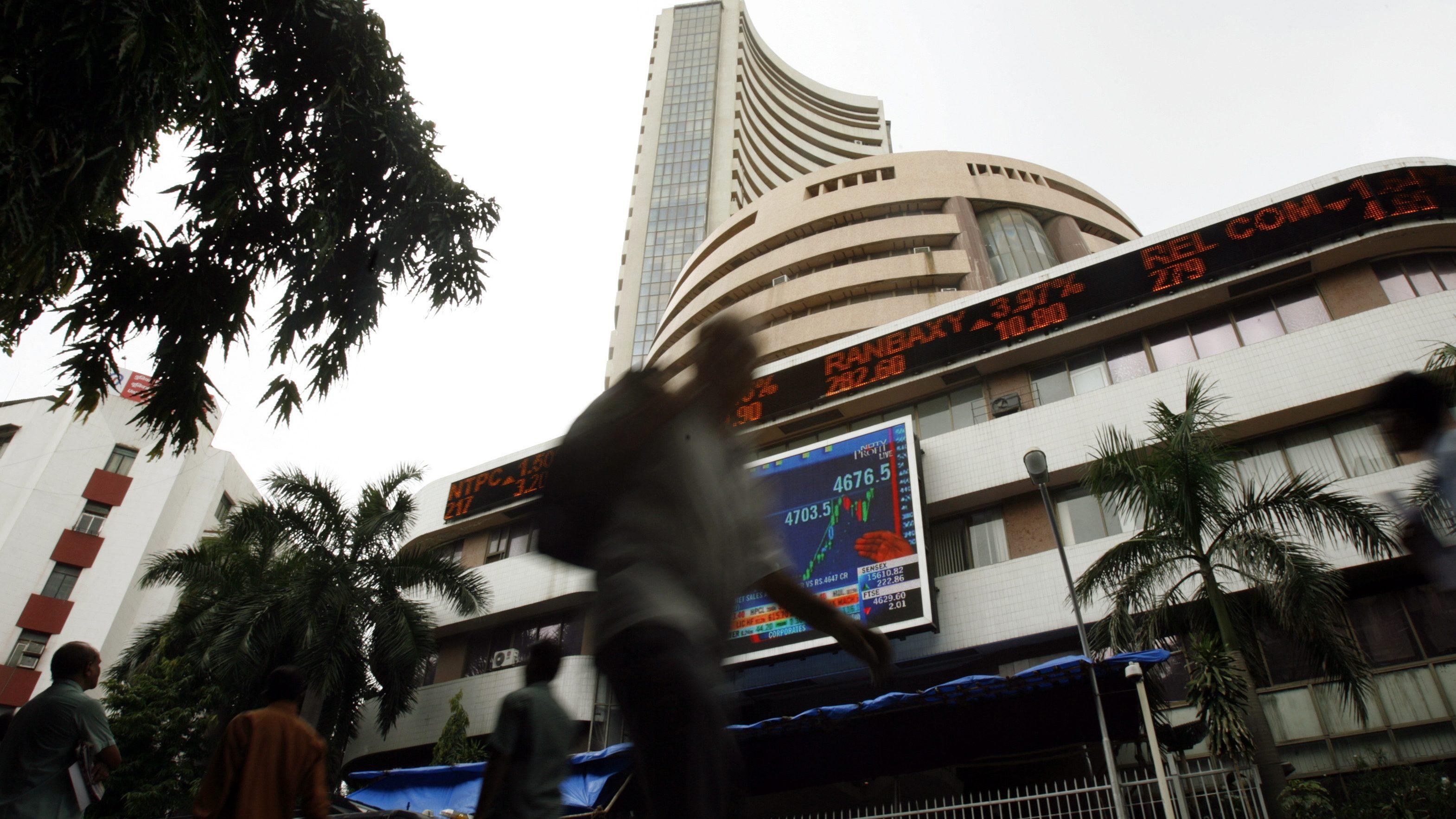 India-Economy-Stock markets