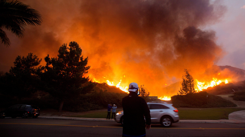 Firefighters tackle the Blue Ridge Fire in Yorba Linda