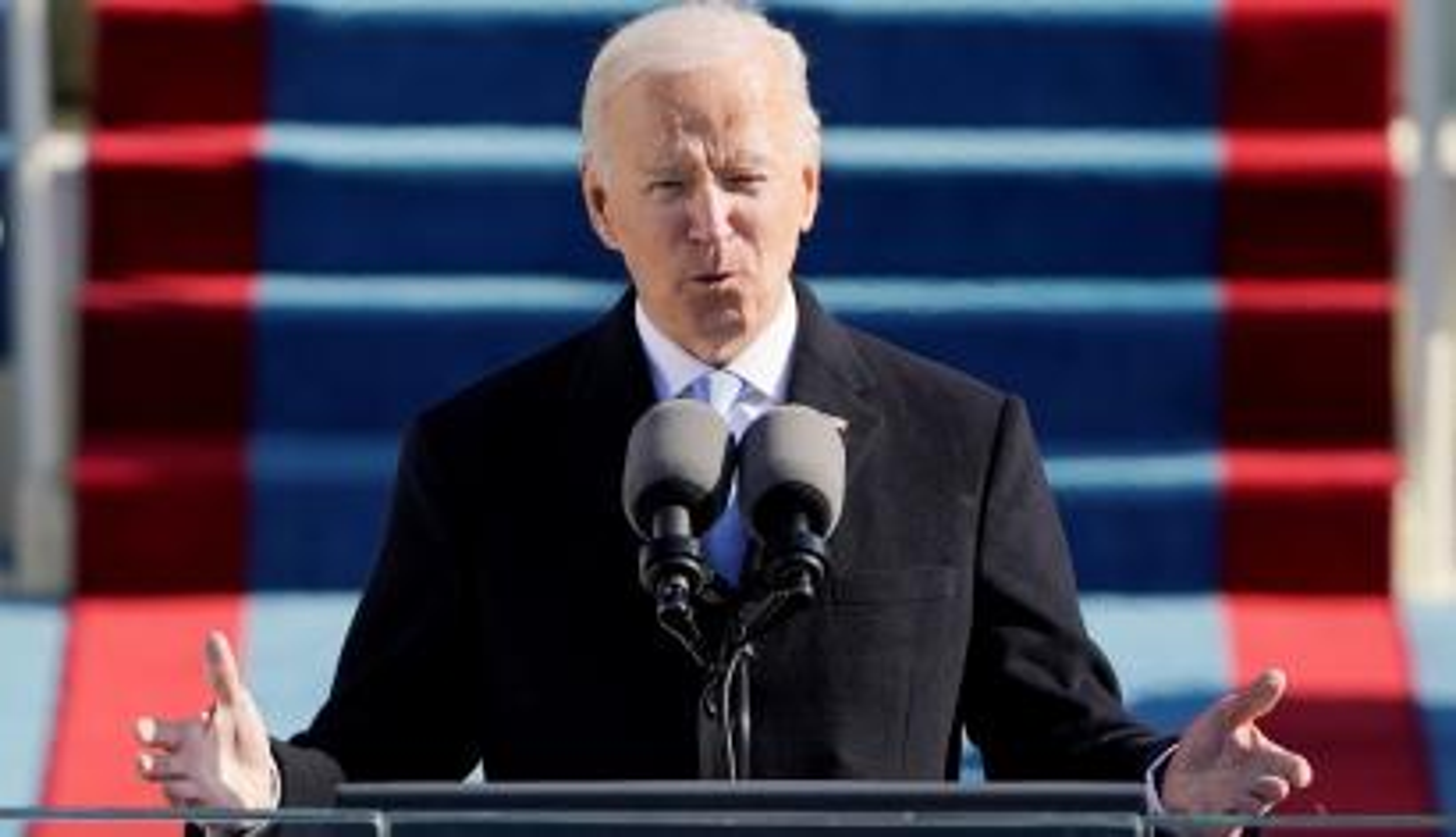 U.S. President Joe Biden speaks during inauguration at the U.S. Capitol in Washington January 20, 2021.